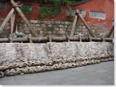 A wood and stone weir, Dujiangyan
